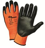 West Chester 703CONF-2X Zone Defense Orange Shell w/ Black Niltrile Foam Palm Coat Gloves